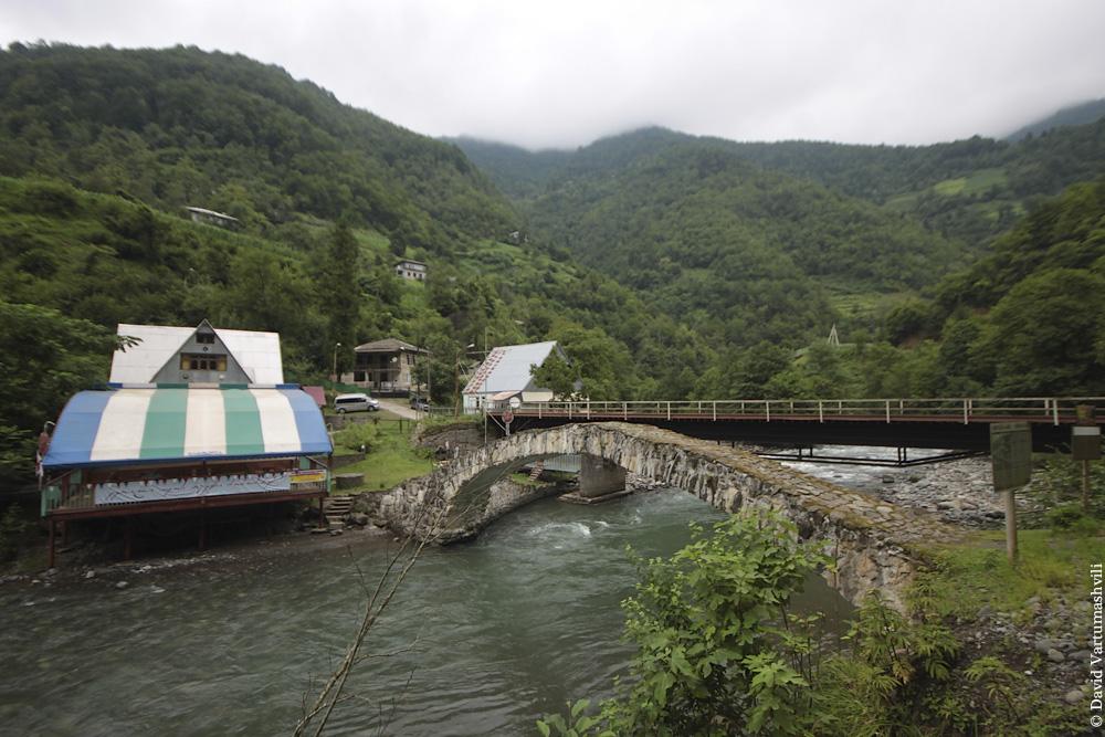 Ущелье реки Мачахела, мост Тскхемлара