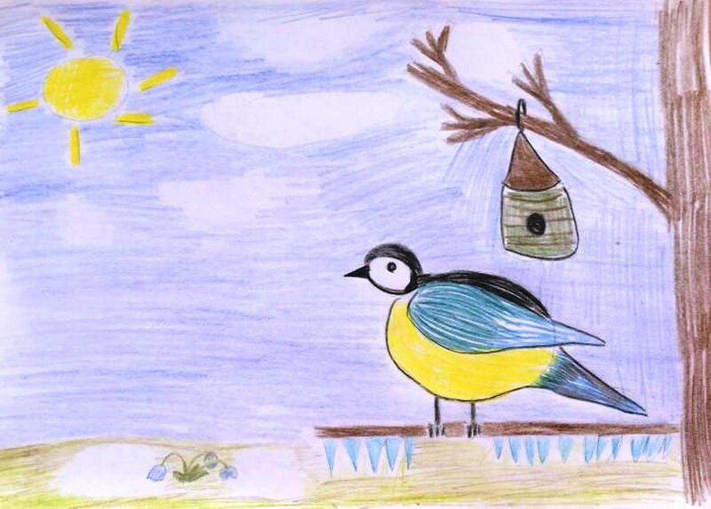 Солнечная весна - Лесников Егор, 5 лет, Тема -- Рисунок, г. Сургут.jpg