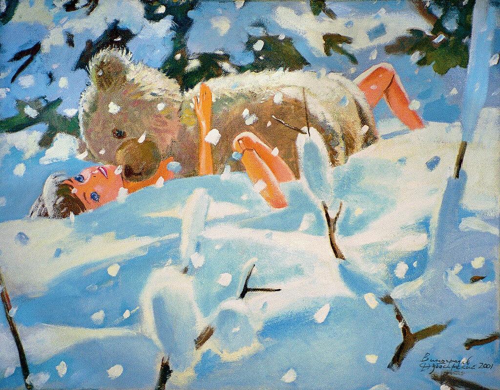 Виноградов Дубосарский Мишка и Барби (Зима) 2002.jpg