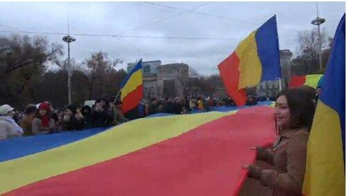 ВКишиневе протесты из-за победы Додона, требуют 3-го тура выборов