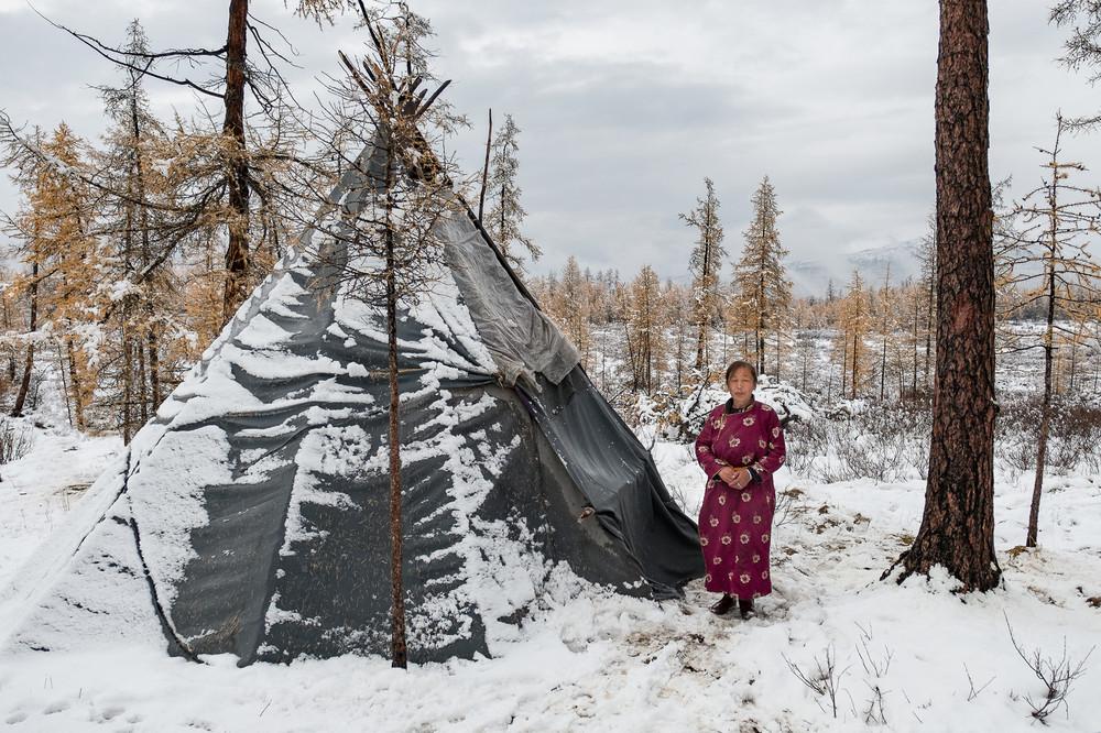 В гостях у семьи монгольских оленеводов