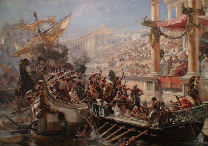 Морские (водные) сражения на арене античного амфитеатра
