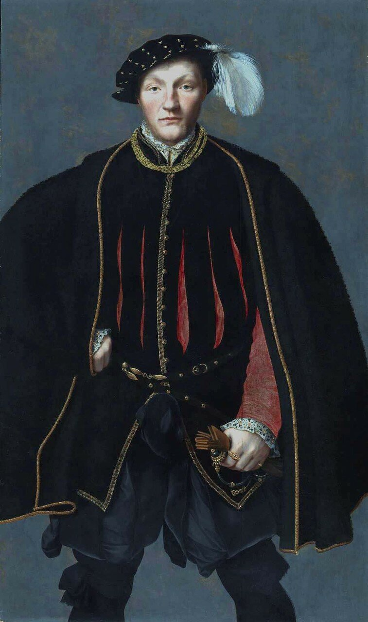 Portrait of a Gentleman, probably of the West Family 1545-60 by ?British School