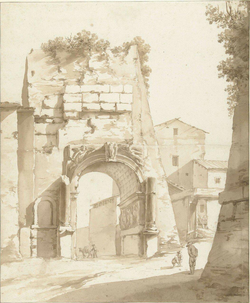 Ворота в Рим (не датировано) (414 х 342 мм) (Амстердам, Гос. музей) (кисть и коричневые чернила).jpg