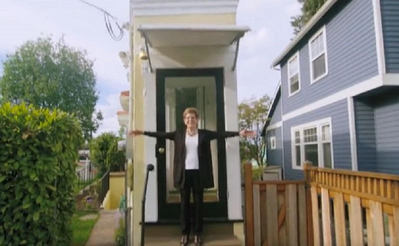 Она построила дом шириной в 1 м, чтобы отомстить бывшему мужу! Вот как поступают со скупердяями.