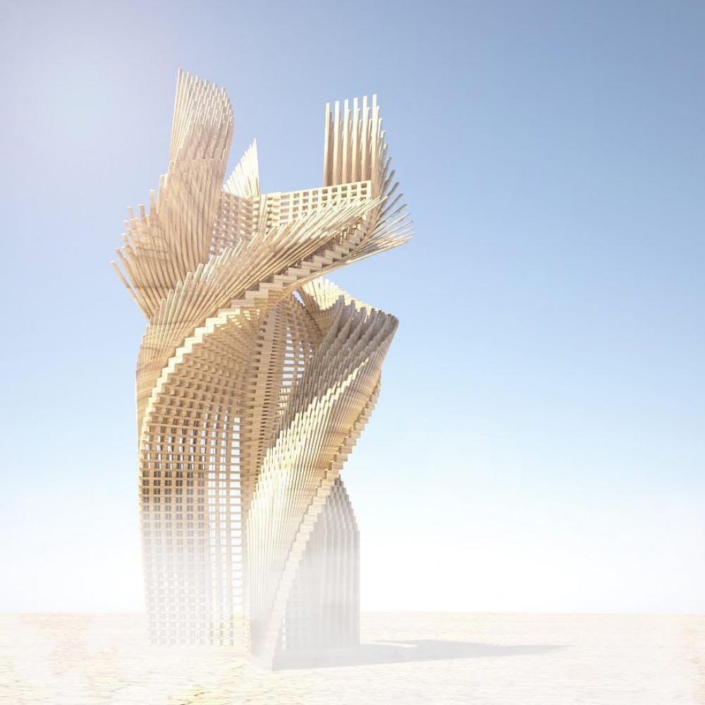 Архитектурное сооружение «Тангенциальные мечты». Напланирование исоздание ушло 2года. Изви