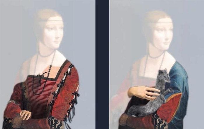 Очистив картину от вековой грязи и лака, Котт заметил любопытную деталь: сначала дама была вообще с