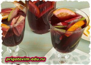Тропический чай с фруктами