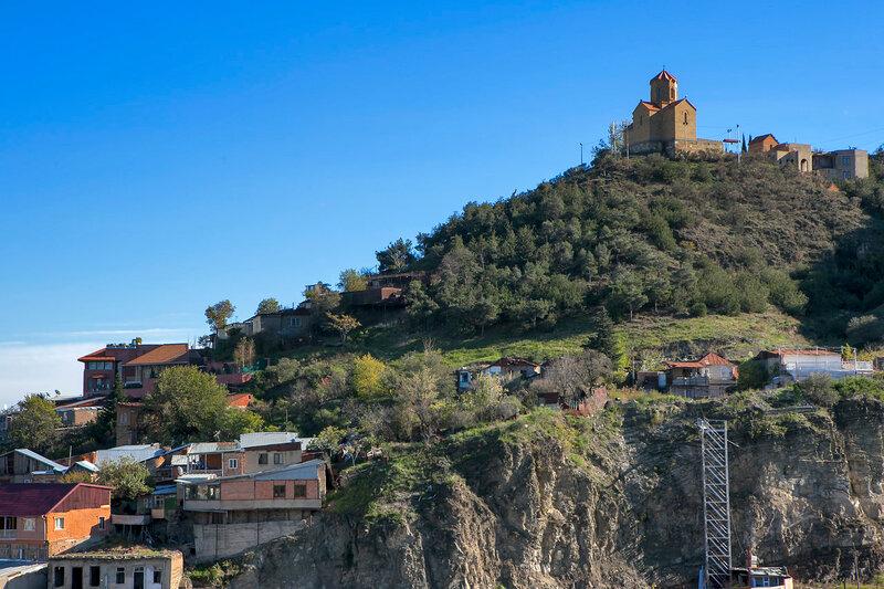 Medieval castle of Narikala and Tbilisi city overview, Republic of Georgia, Caucasus region