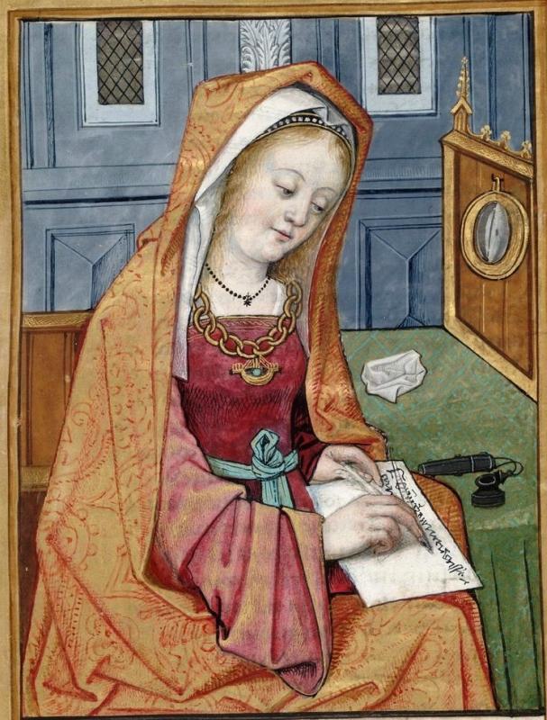 Phyllis -- Huntington Library Ms HM 60, f°7 Les XXI Epistres des Dames illustres traduicttes d'Ovide par le Reverend Pere en Dieu Monseigneur l'Evesque.jpg
