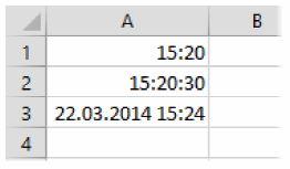 Как в книгах Excel правильно вводить даты и время