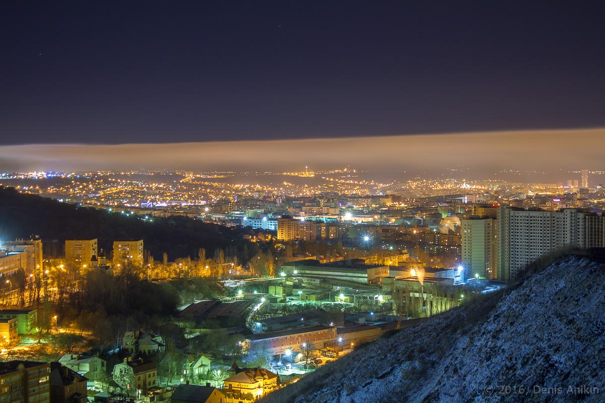 Ночная панорама Саратова фото 1