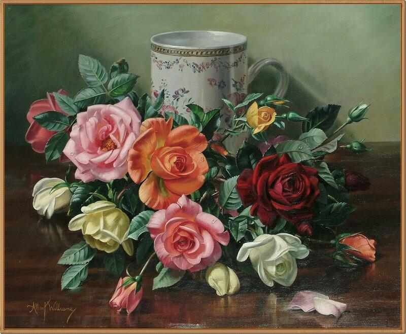 15 Натюрморт с розами и вазой (Still life of roses and vase)_51 x 61_х.,м._Частное собрание.jpg