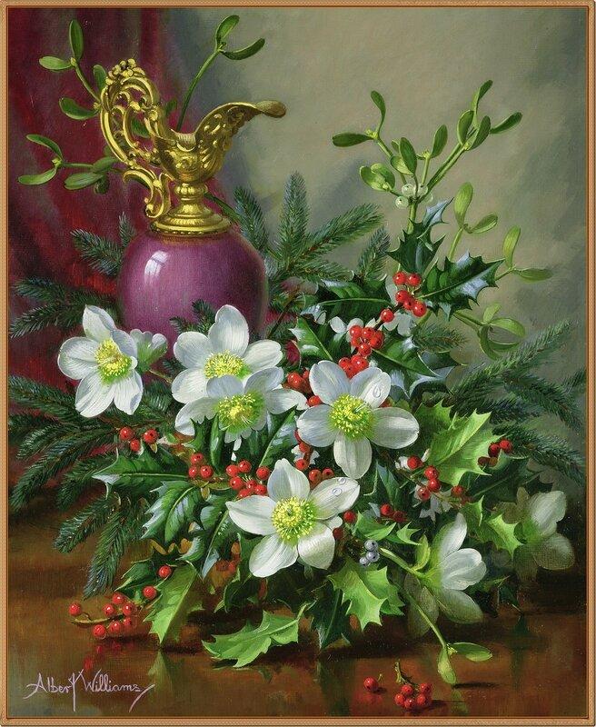 Рождественский букет (Christmas bouquet)_х.,м._Частное собрание.jpg