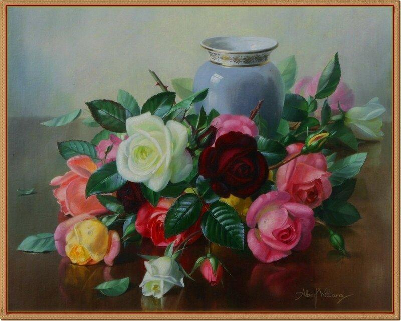 42 Натюрморт с розами. Albert Williams (1922-2010).jpg