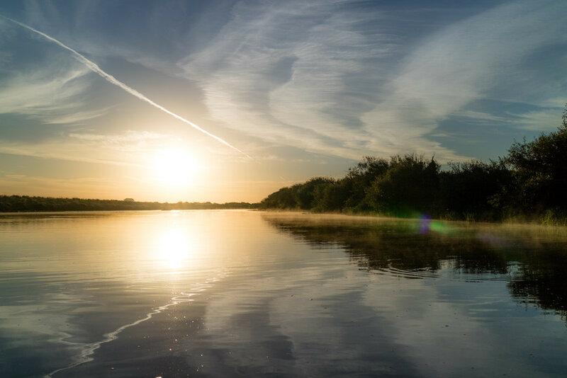 восход на реке Исеть
