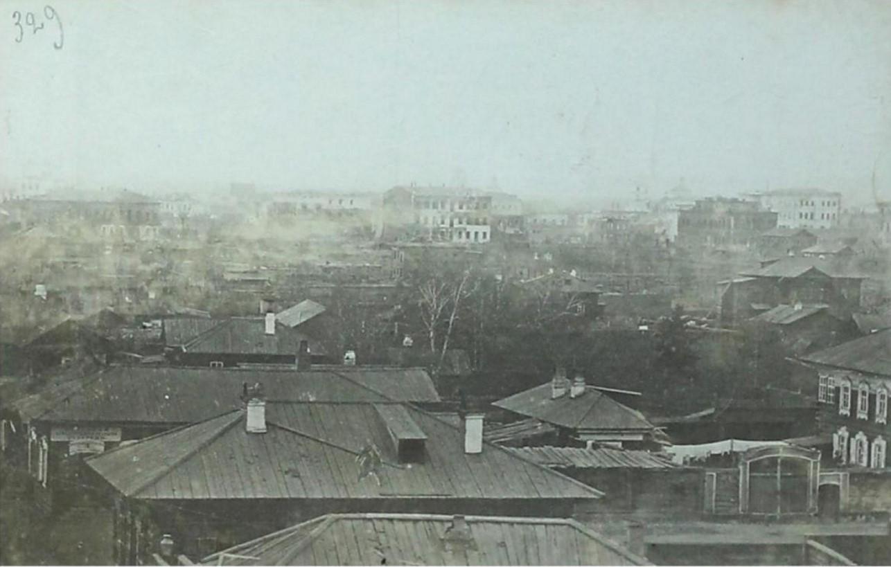 Вид с Иерусалимской горы в сторону сгоревших кварталов. 1879