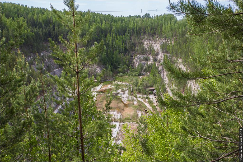 Шабровский тальковый карьер Старая Линза