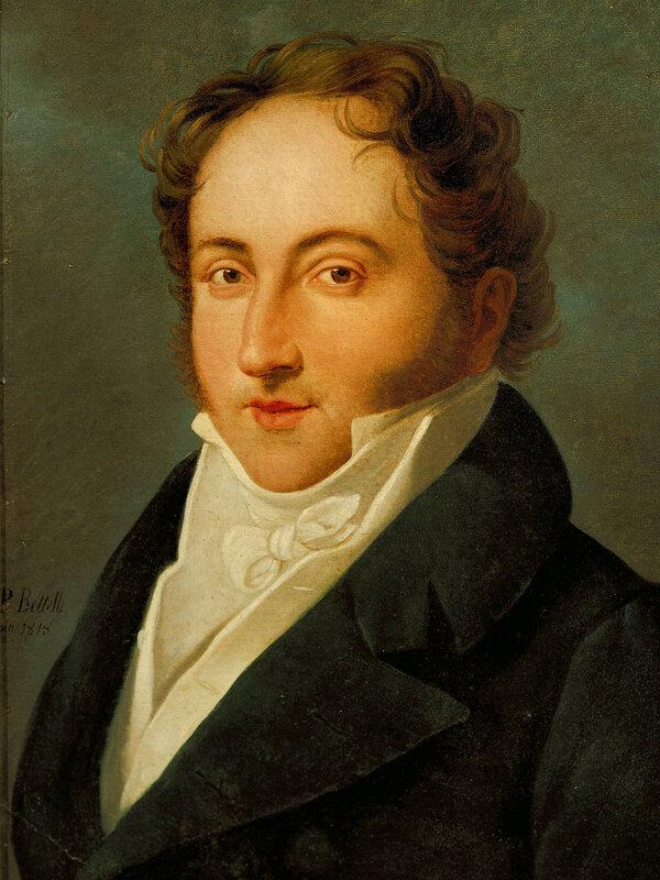 Italy, Bologna, Portrait of Italian composer, Gioacchino Rossini