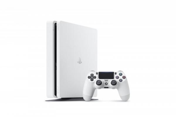 Сони  представила новейшую  PS4 Slim врасцветке «Белый ледник»