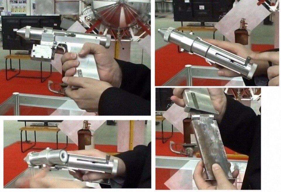 Лазерный пистолет СССР. (1 фото)