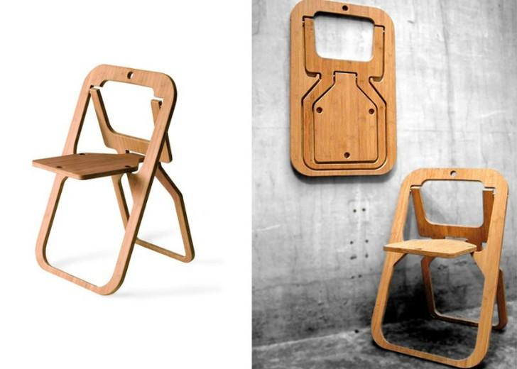 7. Удобный в использовании складной стул от дизайнера Кристиала Дезиля Дизайнер Кристиал Дезиль созд