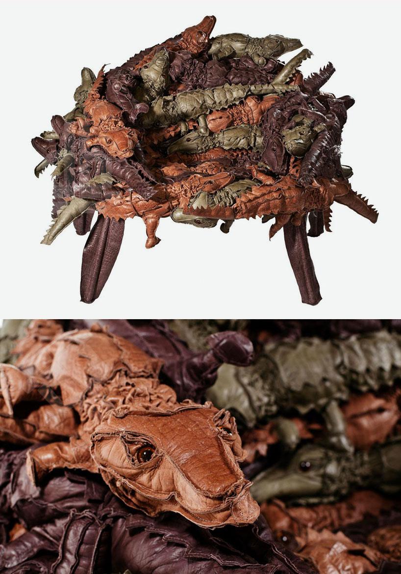 Кресло из аллигаторов, авторы Campana Brothers