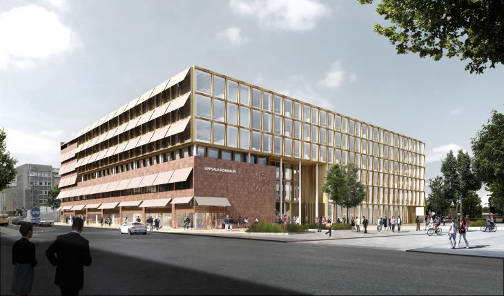 With its transparent architecture the new town hall of Uppsala enters a dialogue with the citizens.