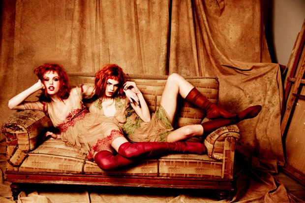 Emma Stern Nielsen & Line Brems by Ellen von Unwerth for Vogue Italia
