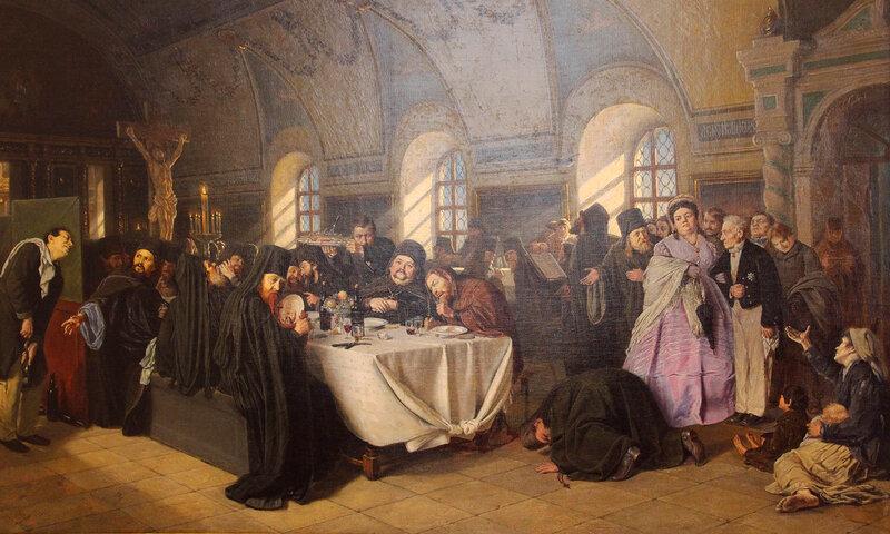 В.Г. Перов 1834-1882ТрапезаХолст, масло, 1865 – 1876 год