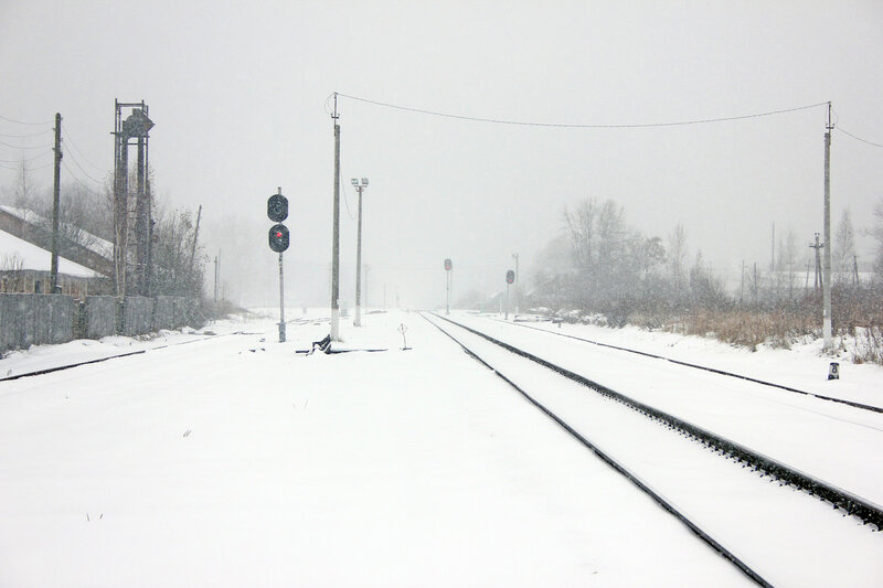 Станция Новодугинская, вид на Вязьму