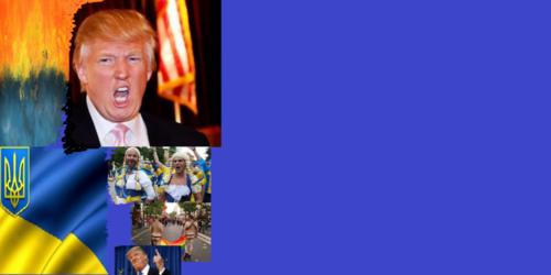 """""""Золотой"""" президент Трамп показывает - КАК он относится к гей-эвропэской Украине.Он заявляет: """"Палец Украине в жопу!"""""""