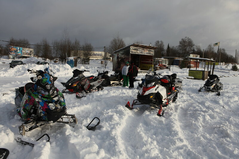Х-арена в Пушкинском районе, снегоходы
