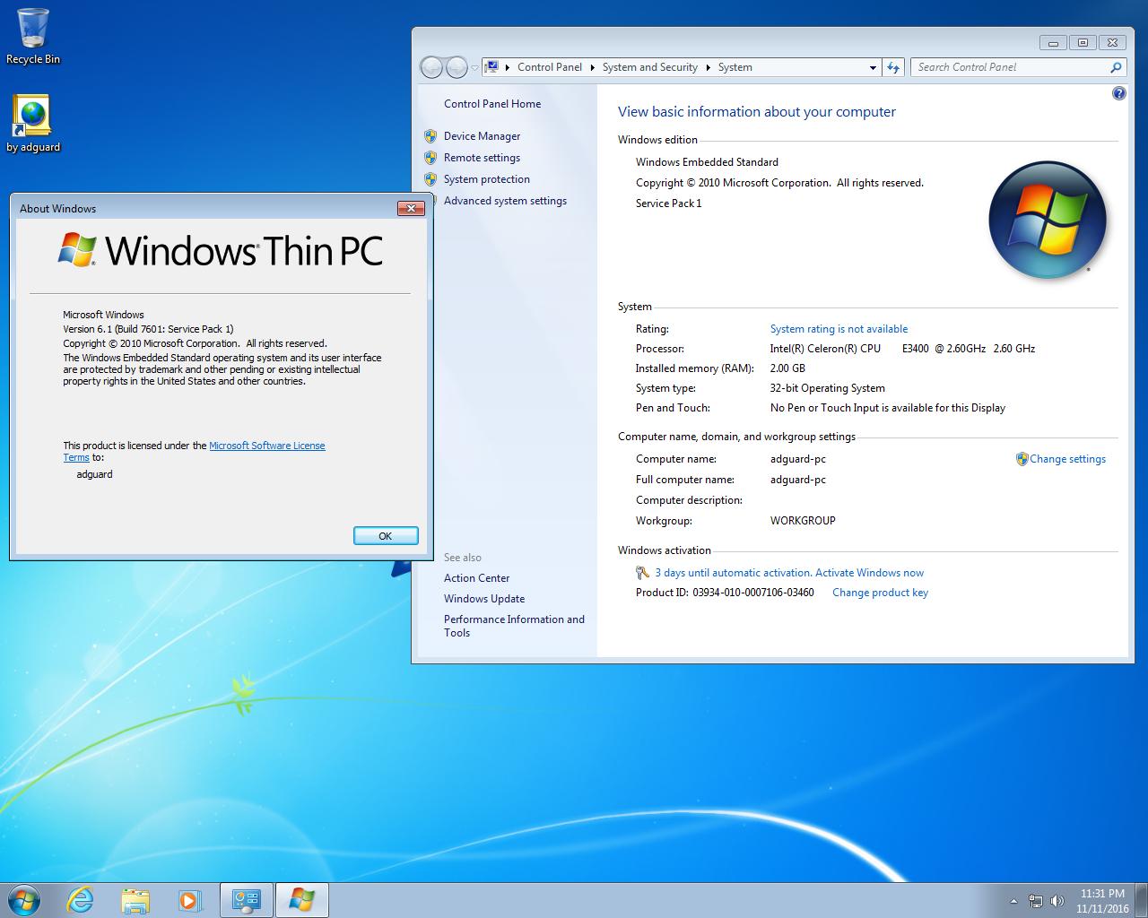 Windows thin pc sp1 x86 en