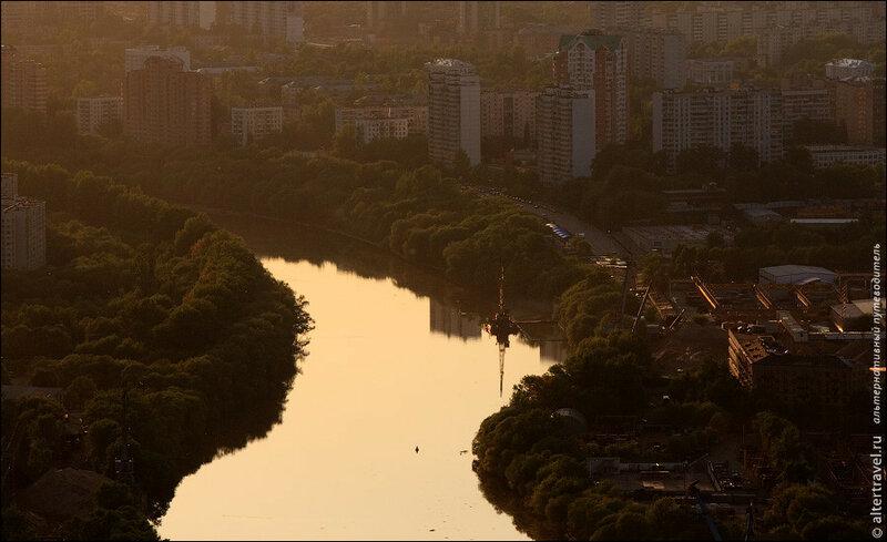 Москва-река в районе Филевской поймы