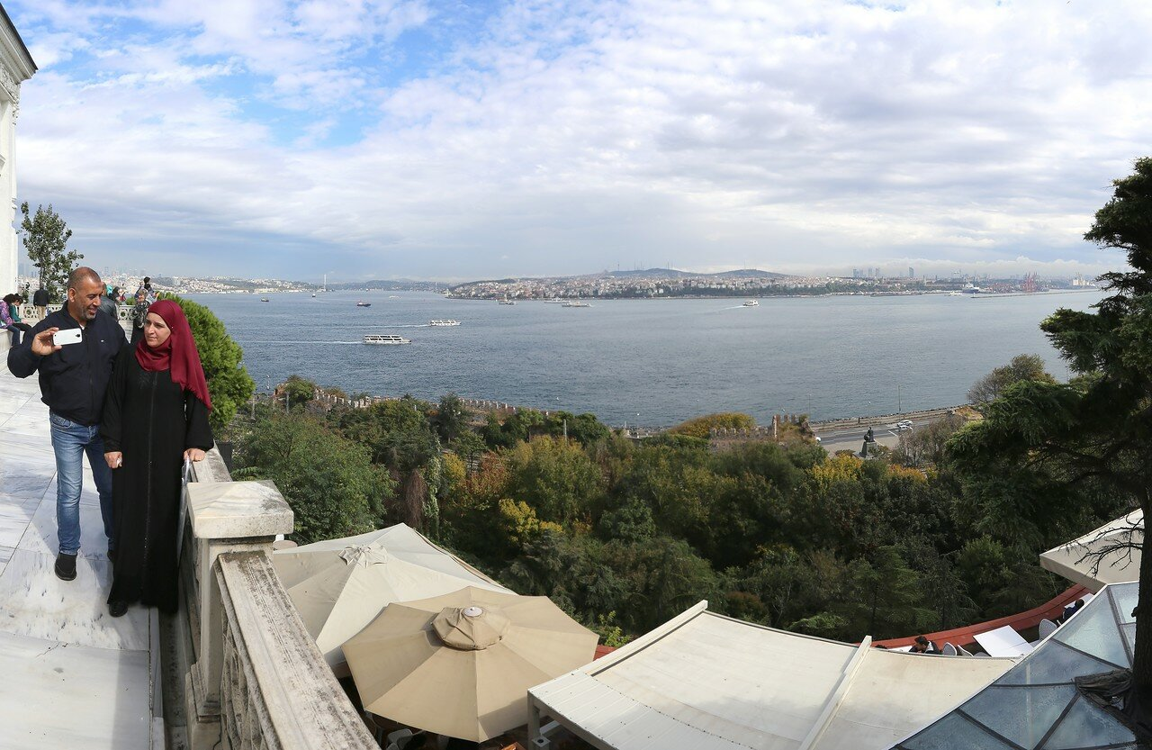 Istanbul. View from the terrace of the Abdul-Majid pavilion