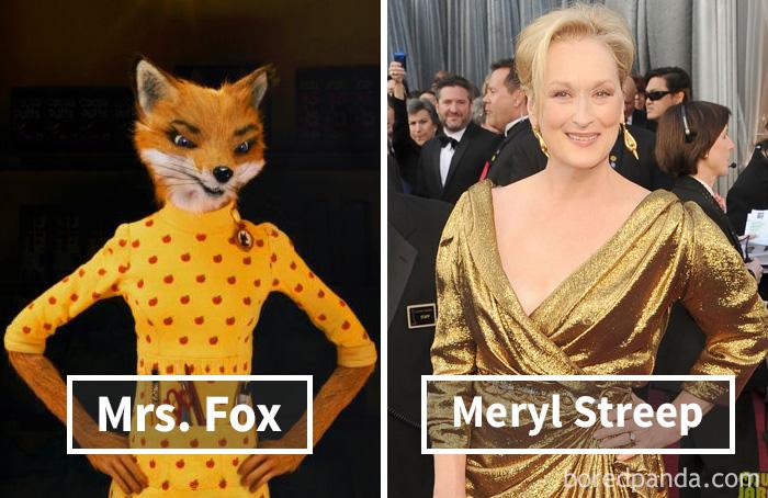 Миссис Фокс («Бесподобный мистер Фокс») — Мерил Стрип.