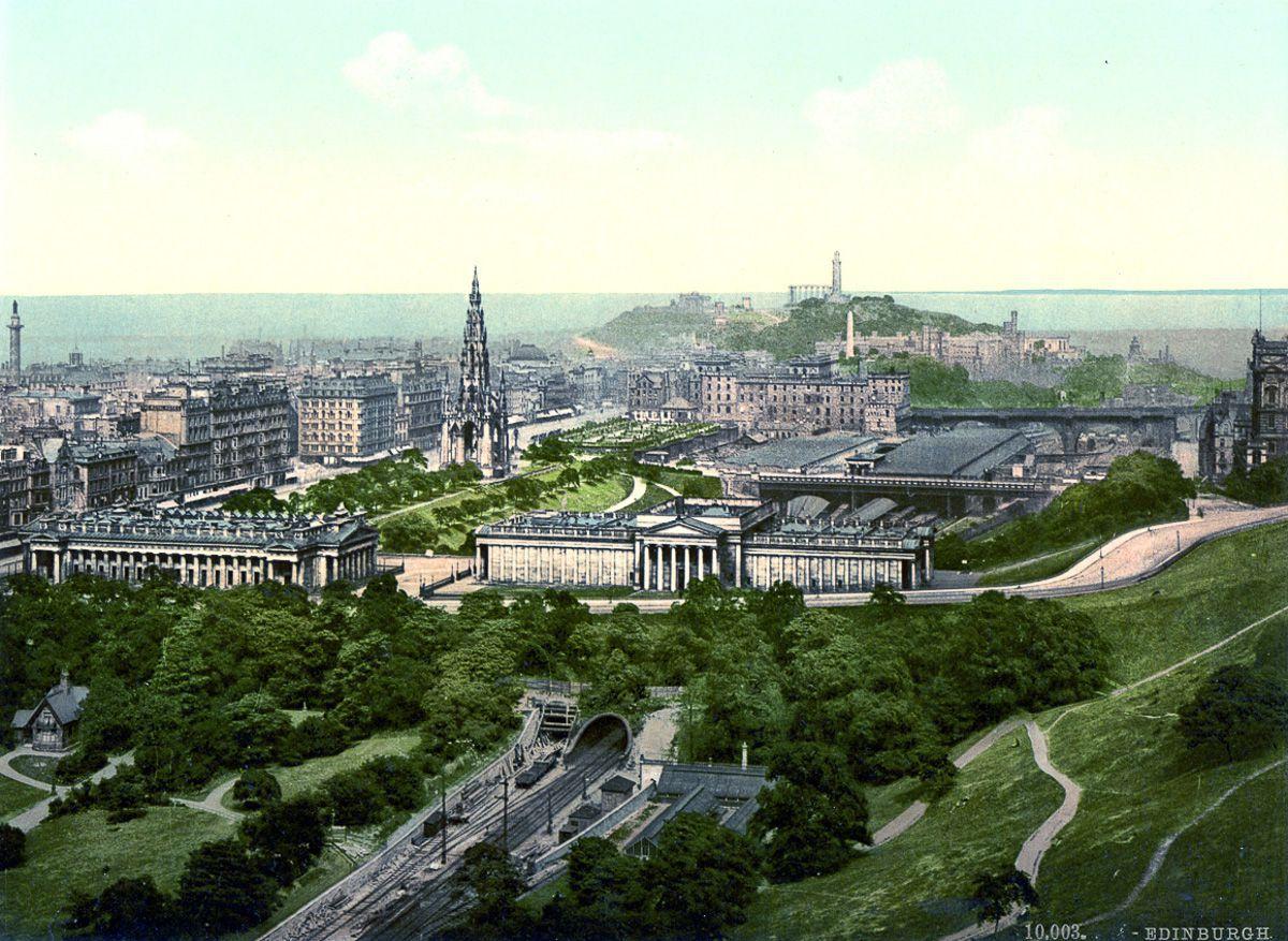 Цветные открытки Шотландии 1890 года: города, природные пейзажи, замки и люди