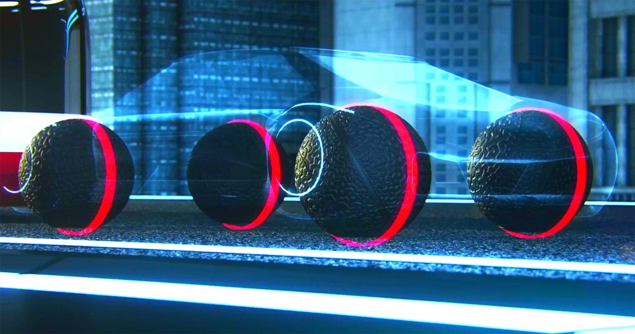 9. Вращающиеся во всех направлениях сферические шины Eagle 360 от Goodyear. Да-да, им наконец-то уда