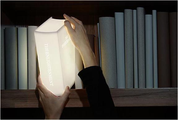 Светильник в виде книги.