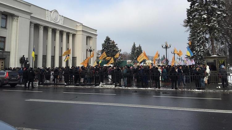 Намитинге вцентре столицы Украины потребовали отставки руководителя Нацбанка