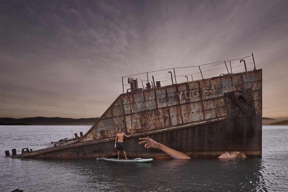 New Seaside Murals That Change With the Tide by Artist Sean Yoro