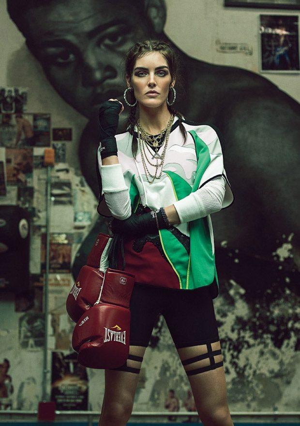 Hilary Rhoda Star in Harper's Bazaar Turkey January 2017 Cover Story