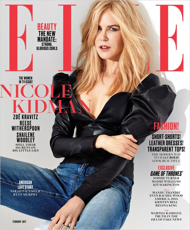 Nicole Kidman, Reese Witherspoon, Shailene & Zoe Cover Elle Magazine (4 pics)