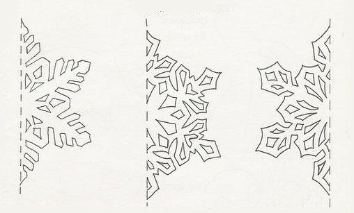 Бумажные новогодние гирлянды - шаблоны