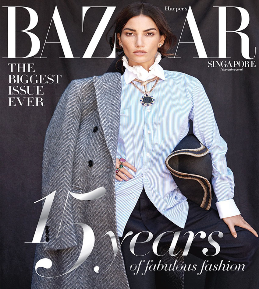 Lily Aldridge - Harper's Bazaar Singapore (November 2016)