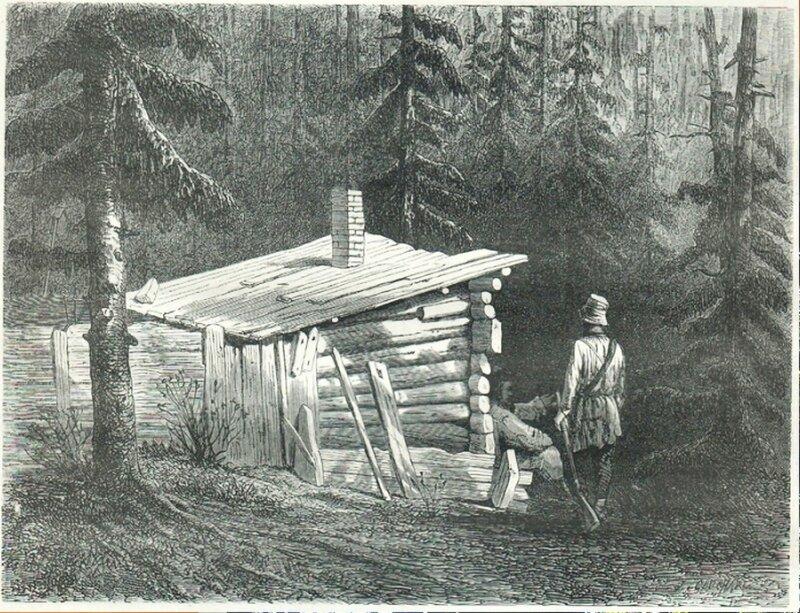 23. Хижина в горах. Небольшая бедная изба.jpg