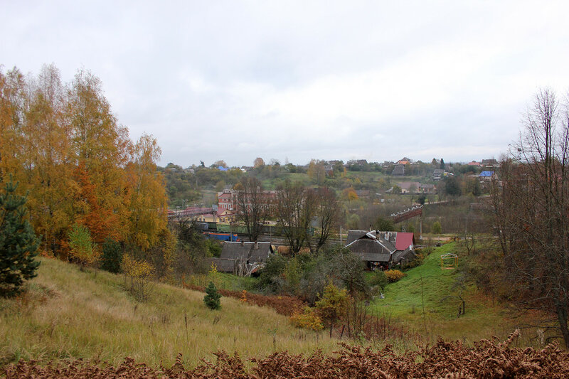 Станция Себеж, вид с холма