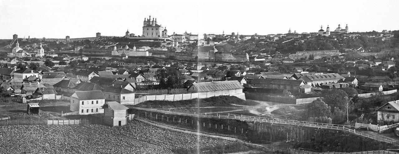 Вид города с колокольни Петропавловской (Варваринской) церкви. 1885