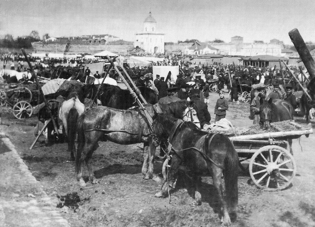 Вознесенская ярмарка на Молоховской площади. 1900-е